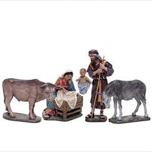 belén de navidad con mula
