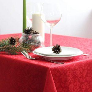 Rojo /& Oro Brillante Navidad Mantel de Plástico Copos de Nieve Navidad Vajilla